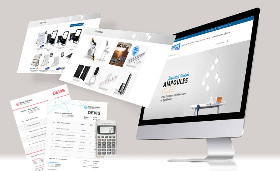 devis création site web catalogue